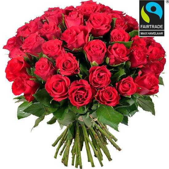 Roses équitables - Bouquet de roses rouges